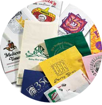 collection of custom printed paper bags